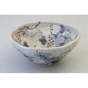 日本製 おかず 耐熱 「亜福窯」 染ぶどう 多盛鉢 大鉢 盛鉢 大皿 預け鉢