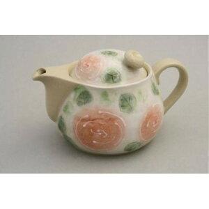 紅茶ポット 陶器 ティーカップ ソーサー 一珍バラ園 ポット 急須 金網茶こし付