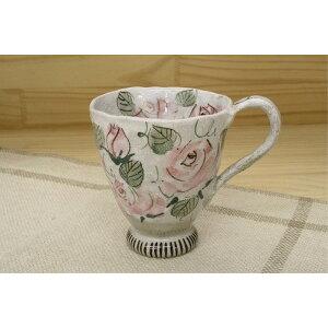 ティーカップ お揃い おしゃれ 春を感じる「季節の器」バラ園 マグ 紅 薔薇 ピンク