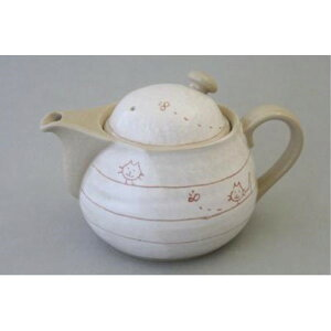 ティーポット 和食器 紅茶 遊び猫 ポット 急須 金網茶こし付(黒)500ml 瀬戸焼