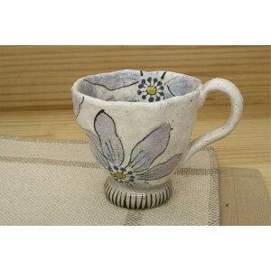 カップ ソーサー ケーキ皿 おしゃれ 「亜福窯」粉引陽花 マグ 小(紫) コーヒーカップ ブルー