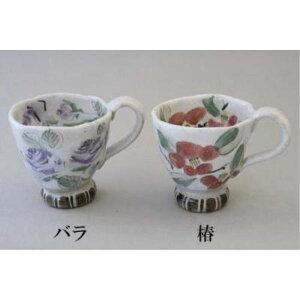 マグカップ ケーキ皿 おしゃれ 瀬戸 亜福窯 花の詩 マグ コーヒーカップ 椿 ツバキ 花柄