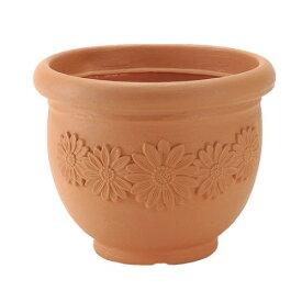 テラコッタ調 植木鉢 「本物の風格と存在感」を軽量で扱いやすく… おしゃれなガーデニング アンティコつぼ35型 ブラウン