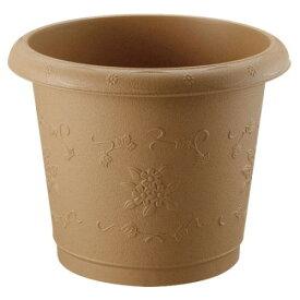 ガーデニング 植木鉢 植栽を美しく引き立てます。 便利アイテム Nシャンティ丸プランター47型 サンドブラウン(SB)
