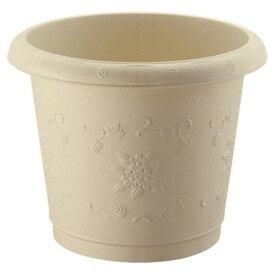 植木鉢 おしゃれ ナチュラル和モダンの住まいに調和。 おしゃれなガーデニング Nシャンティ丸プランター47型 アイボリー(IV)