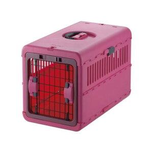 猫 犬用 ペットキャリー バッグ  シートベルト 固定機能付き おしゃれ キャンピングキャリー 折りたたみ M ピンク(P)