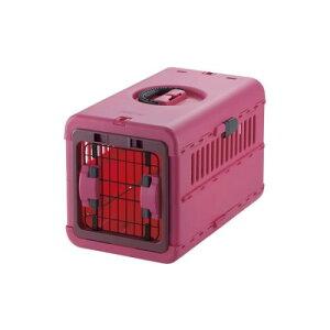 ペットキャリー バッグ  使わないときは、スリム に収納できます。 かわいい キャンピングキャリー 折りたたみ S ピンク(P)
