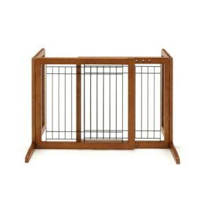 ペットゲート フェンス 自立タイプだから置くだけ! 役立つ ペット用 木製おくだけゲート ブラウン(BR)