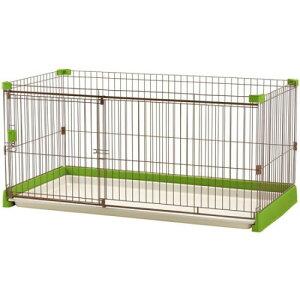 ペットサークル 犬 超小型〜中型犬用 ペット用品 ペット用 お掃除簡単サークル 150-80 グリーン(GR)