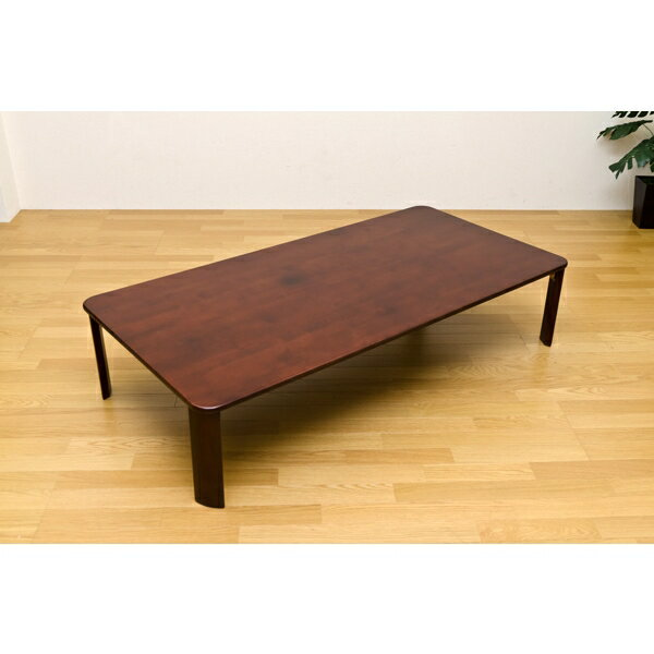 完成品 折りたたみ テーブル 作業台 天然木 ローテーブル/センターテーブル/ちゃぶ台 150cm×75cm ブラウン