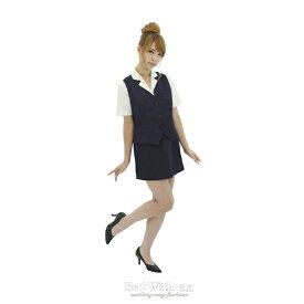 衣装 ハロウィン 仮装 ハロイン halloween costume ハローウィンコスプレOL!!女子社員 事務 制服 紺 ブラウス・スカート・ベスト 豪華セット!OL 制服!大きいサイズ Lサイズ