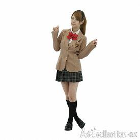 ハロウィン 仮装 ハロイン halloween costume ハローウィンAKB ジュニア アイドル 制服 ブラウス一体型ブレザー・リボン・スカート Mサイズ