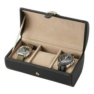 時計ケース 時計ボックス ウォッチクッション付属 ウォッチケース 3本用