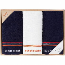BEAMS DESIGN(ラインドット)フェイスタオル2P&ウォッシュタオル51-3029250