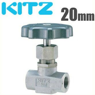 KITZ雏形阀针阀门UN-26-AP-6 20mm不锈钢制造[kittsu接缝管道的铺设零部件接缝煤气装置接缝金属零件]