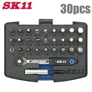 SK11 スリムラチェットドライバーセット SRD-2230 [ショートソケット ソケットレンチ ラチェットセット 工具セット ツールセット]