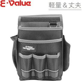 SK11 腰袋 ホルダー付 EDK-3D GR [工具差し ツールケース 大工道具 工具袋 ベルト プロ 工具入れ]