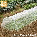 防虫ネット 0.4mm目 1.5×100m 農業用ネット [遮光ネット 防草シート トンネル プランター 農業資材]