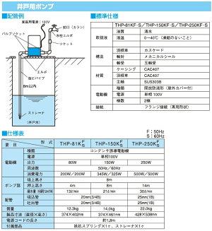 寺田ポンプ井戸ポンプTHP-150KF(S)〔浅井戸ポンプ〕【HLS_DU】