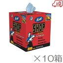 SCOTT ショップタオル ブルーBOX 200枚×10箱セット 紙ウエス 洗車タオル 洗車用品 スコット 吸水タオル