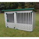 犬小屋 中型 大型犬 スチール製 ドッグハウス 屋外 0.5坪タイプ DFD-1