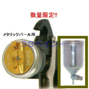 (数量限定)(K) DEVILBISS デビルビス スプレーガン LUNA 2-R-244PLS-1.3-G-K 小型 重力式 フリーアングル塗料カップ付セット