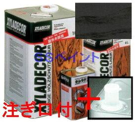 (N)キシラデコール 屋外用 油性 高性能木部保護塗料 色:#112 ジェットブラック 16L(一斗缶サイズ)