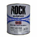 ロックペイント 057-0150 ポリパテ中目(薄付け用) 主剤 1kg (硬化剤別売)