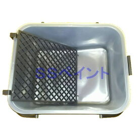 ヨトリヤマ ローラーバケットL 小セット (ローラーバケット1ヶ・ネット1枚・内容器1枚) 塗料容器 サイズ:9インチまで