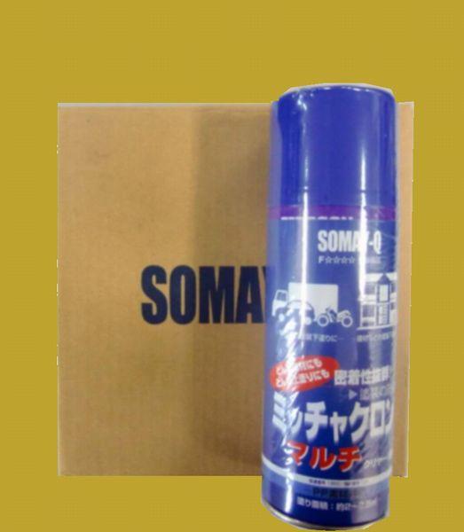 染めQテクノロジィ 密着剤 ミッチャクロン マルチ(箱) 色:クリヤー(透明) スプレー式(エアゾール式) 420ml 6本入/箱