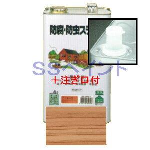 (N)ロックペイント ナフタデコール 屋外用 油性 高性能木部保護塗料 085-0001  色:オフカラー 16L(一斗缶サイズ)