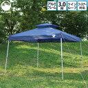【送料無料】 テント 大型 Field to Summit アルミワンタッチテント300 3Mx3Mサイズ ツインルーフ アルミ製軽量テント キャリーバッグ 簡単 タープ 自立式 日除け ガーデン キャンプ BBQ タープテント 簡易テント 3M 300cm 風抜