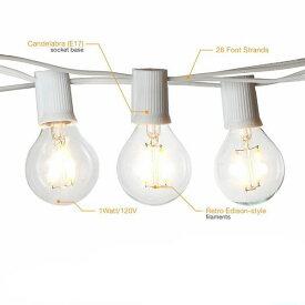 Outdoor Lighting Patio String Lights LED White&Black 12球 G40 7m アウトドアーライティング パティオストリングライト・ホワイト・ブラック・イルミネーション・ライト・電飾・業務用・ガーランドライト・パーティ・ランプ・アメリカ