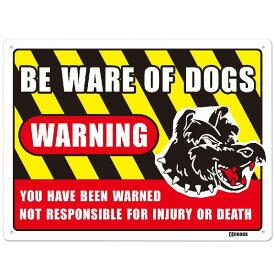 Warning Dogs Metal Sign Warning Beware of Dogs ワーニング ドッグ サイン看板・猛犬 注意犬・ドッグ・サイン・看板・プレート・警告・英語・アメリカ