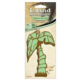 Island adventures Coconut Key Lime Air Freshener 3個入り ココナッツ キー ライム・芳香剤・車・ヤシの木・椰子・南国・車・アメリカ・ペーパーフレッシュナー・エアーフレッシュナー