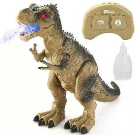 T-Rex Dinosaur RC ダイナソー ラジコン ライト&音 首振り 恐竜 光る 動く 歩く 歩行 サウンド ライトアップ 霧 スモーク おもちゃ