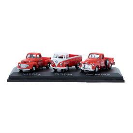 COCA COLA 1/72 Classic Pickups Set コカコーラ クラッシック ピックアップ セット ミニカー アメリカ USA アメ車 フォルクスワーゲン トラック フォード フォルクスワーゲン シボレー シェビー