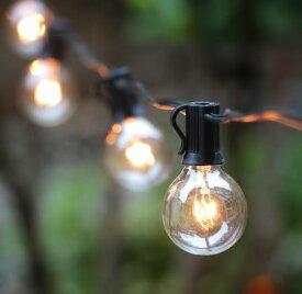 Outdoor Lighting Patio String Lights Black 100球 G40 E12 30m・アウトドアーライティング パティオストリングライト ブラック・イルミネーション・ライト・電飾・業務用・ガーデン・パーティ・ランプ・アメリカ・ガーデンライト・モチーフ