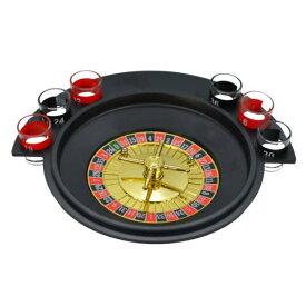 Drinking Roulette Game Set ドリンキング ルーレット ゲーム セット 6個ショットグラス ルーレットボール パーティー 業務用 ボードゲーム お酒 飲み会 アメリカ ラスベガス カジノ ボードゲーム バー テキーラ・