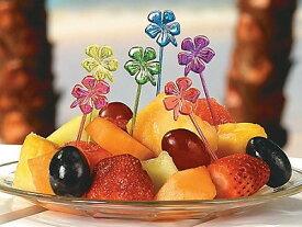 Hibiscus Picks アソート72本入り ハイビスカス 花 南国 アイランド ハワイ アメリカ バリ トロピカル ハワイアン パーティー イベント 果物 くだもの フルーツ ピック 業務用