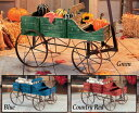 Amish Style Country Wagon Wood Green Blue Red Garden Planterカントリーワゴン・プランター・グリーン・...