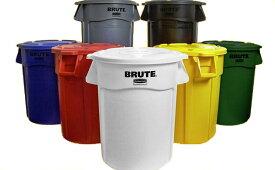 Rubbermaid Commercial Brute 32-GallonTrash Can フタ付き!アメリカ・ごみ箱・ゴミ箱・ラバーメイド ブルート・32ガロン・トラッシュカン・バケツ