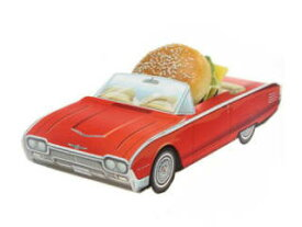 1961 Ford Thunderbird Pacer Party Container ペーパークラフトカー・パーティーコンテナー・アメ車・アメリカ雑貨・フォード・フェアレーン・小物入れ・ハンバーガー・お菓子・チップス・アメリカ・紙皿・お皿