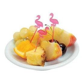 Flamingo Picks72本入り フラミンゴ 花 南国 アイランド ハワイ アメリカ バリ トロピカル ハワイアン パーティー イベント 果物 くだもの フルーツ ピック フラミンゴ業務用 フードピック