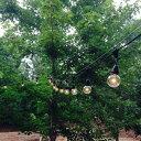 Outdoor COMMERCIAL GRADE STRINGER Lights 防水タイプ Black & White 25球 G50 7m 連結が可能 アウ...