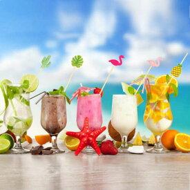 Hawaiian Food Picks 50個入り 竹串・ハワイアン フードピック・ビュッフェ バイキング・ホームパーティー・ハワイアン・パーティー・イベント・果物・くだもの・フルーツ・カクテル・業務用・バー・サボテン・フラミンゴ・モンステラ・パイナップル