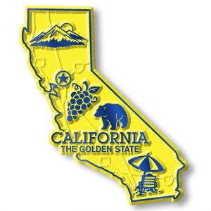 California Map MAGNET カリフォルニアのマグネット!!クラシックマグネット・アメリカ・マップ
