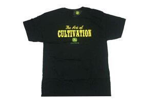 John Deere T-shirt BLACK1 ジョン ディアー トラクター 耕運機 アメリカ アメ車 アメリカン Tシャツ 農家 牧場 ファーム ブラック