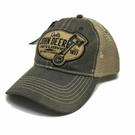 John Deere Parts and Service Patch Hat ジョン ディアー トラクター Mesh Cap 耕運機 アメリカ アメ車 アメリカン キャップ 帽子 ハット メッシュキャップ メッシュハット ブラウン ピストン