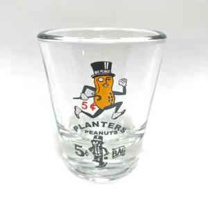 Planters Mr. Peanut Shot Glasses ミスター ピーナッツ ショットグラス ショット アメリカ輸入品 USA バー Bar パーティー 落花生 アメリカン